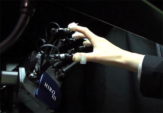 Voelen aan virtuele objecten