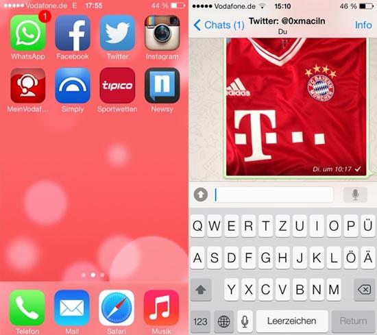 WhatsApp voor iOS 7