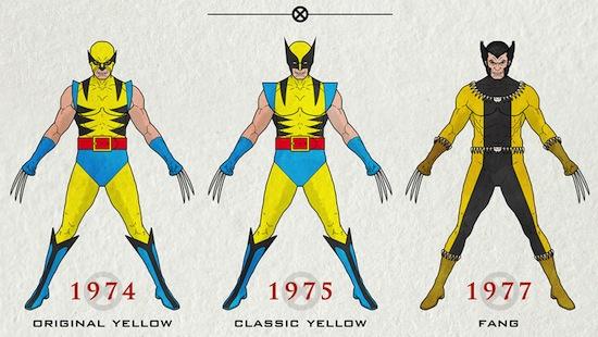 Infographic: de looks van Wolverine - 1974 tot 2013