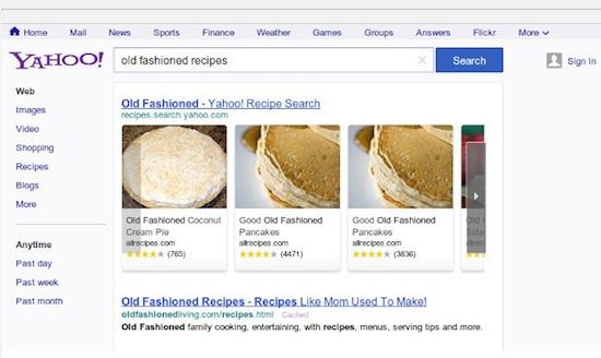 Yahoo Search Kopieert Google