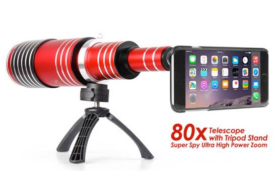 Smartphone addon lens 80x optische zoom
