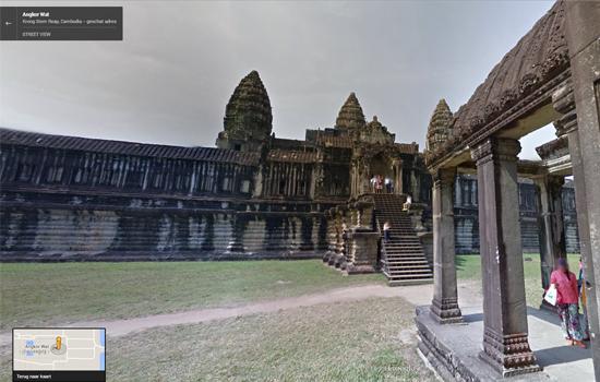 Ontdek met Google Street View de tempels van Angkor Wat