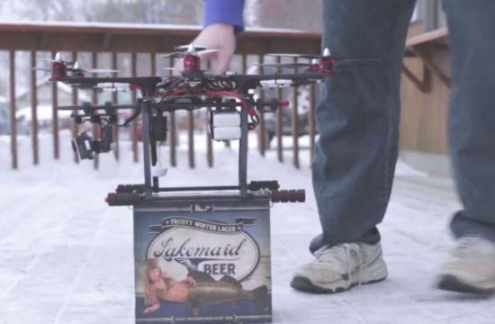 Bier per drone bezorgen