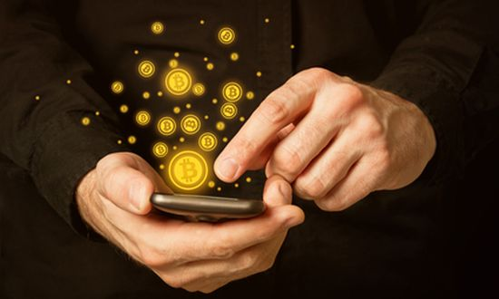 Bitcoin mining via telefoon