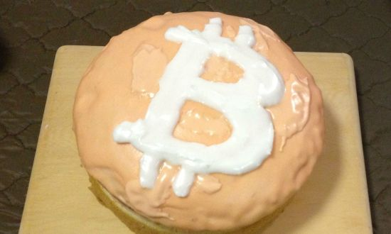 Bitcoin verjaardagstaart