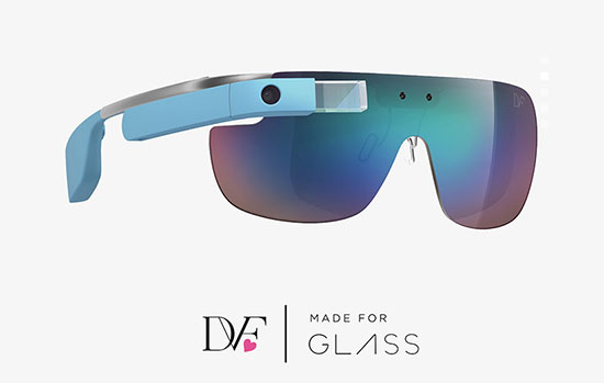 DVF ontwerpt limited edition van Google Glass