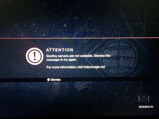 Destiny-serverproblemen