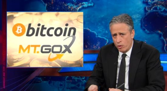 Jon Stewart over Bitcoin en Mt Gox