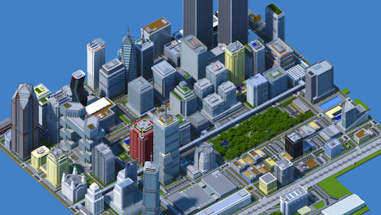 Student bouwt Minecraftstad van 4,5 miljoen steentjes