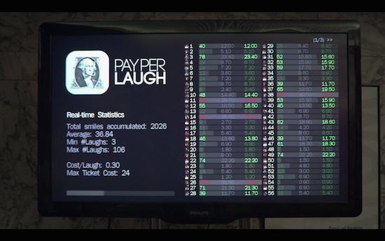 Comedyclub laat bezoekers betalen per lach