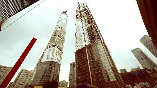 Filmmakers laten Shanghai veranderen in vette video