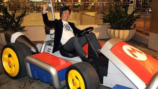 Shigeru Miyamoto MOET met de auto komen