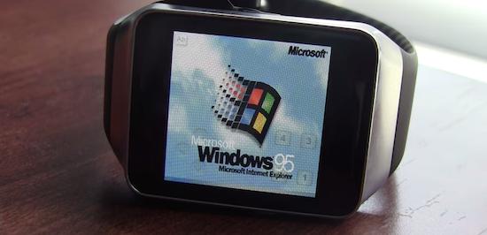 Windows 95 op je smartwatch