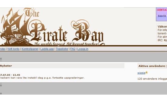 The Pirate Bay anno 2004