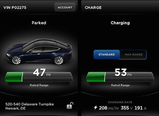 Tesla Model S app