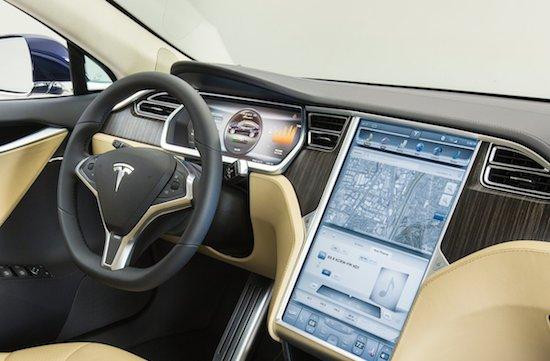 Het scherm in de Tesla Model S