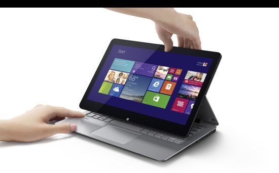 Met deze Sony multi-flip laptop kun je alle kanten op