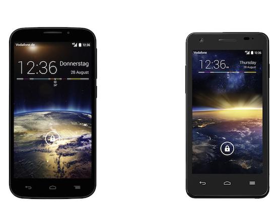 Links: Vodafone Smart 4 Power, rechts: Vodafone Smart 4 Turbo