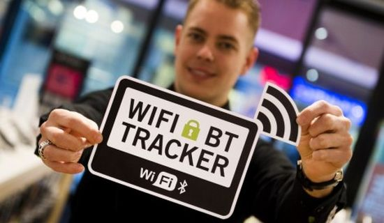 WiFi-tracking sticker