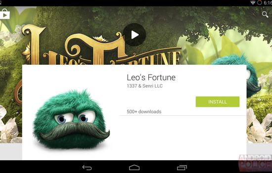 Ontwerp voor nieuw uiterlijk Google Play gelekt