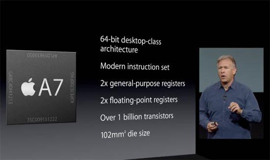 Apple A7 processor presentatie