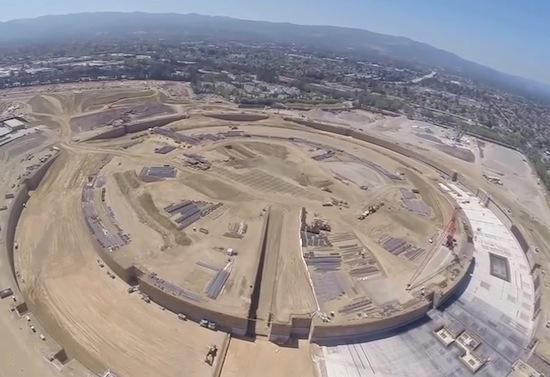 Zo groot wordt het nieuwe hoofdkantoor van Apple [drone video]