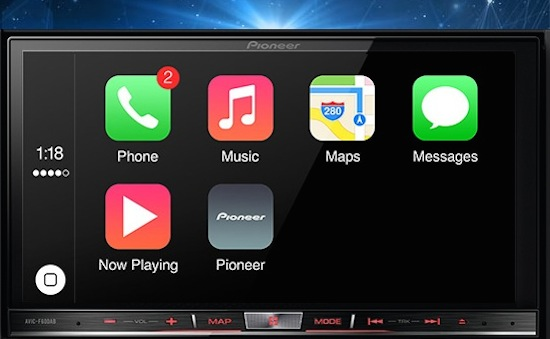 Apple CarPlay komt naar Pioneer-mediasystemen