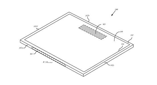 De afbeelding uit de patentaanvaag van Apple
