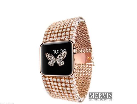 Voor de superrijken: Apple Watch met een laag diamanten