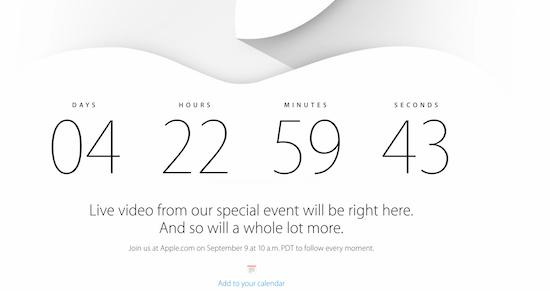 Zie 9 september live hoe Apple de iPhone 6 en iWatch onthult