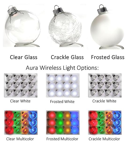 Aura kerstbal soorten
