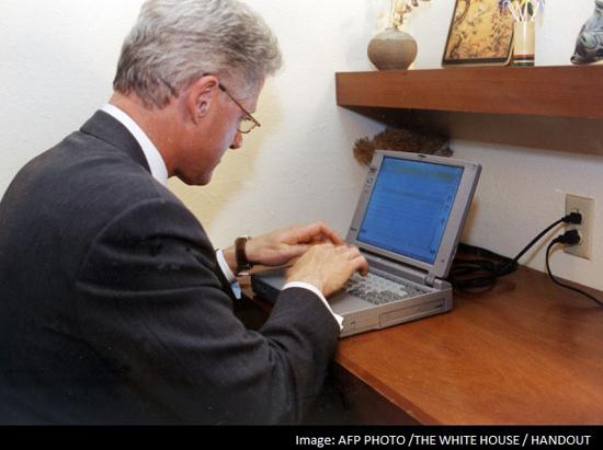 Laptop met presidentiële mail verkocht voor 60,667 dollar