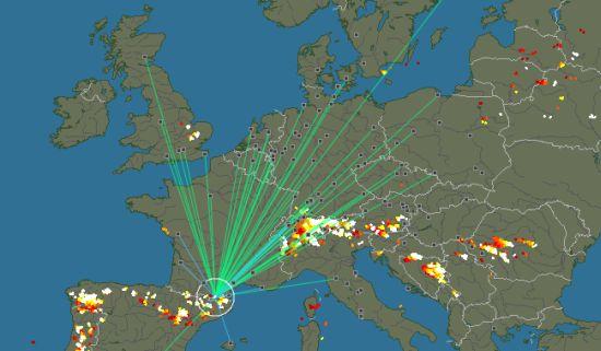 Kijk mee waar wereldwijd de bliksem inslaat in real-time