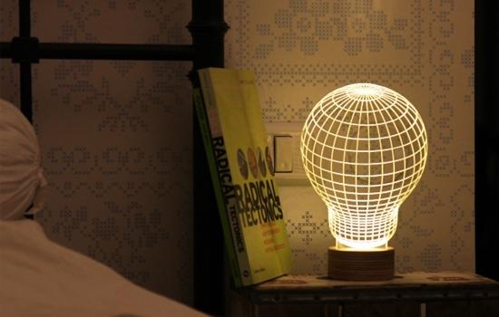 Bulbing: een lamp met een optische illusie
