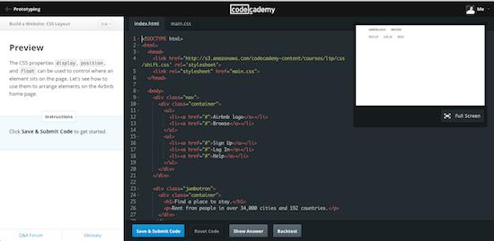 CodeAcademy leert je programmeren