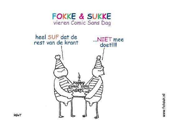 Vandaag is het Comic Sans dag