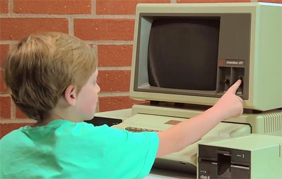 Hoe kinderen reageren op oude computers?