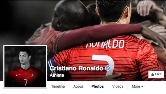 Cristiano Ronaldo op Facebook