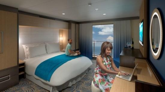 Cruiseschip biedt 80-inch HD schermen met zeezicht