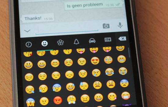 Heb je dat nou ook altijd, stuur je een bericht met een emoji naar ...