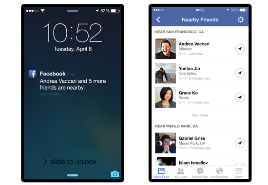 Facebook komt met nieuwe mobiele functie, Nearby Friends