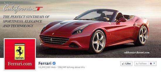 Ferrari pakt Facebookpagina van jonge fan af
