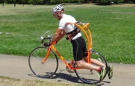 Met deze fiets heb je geen zadel meer nodig