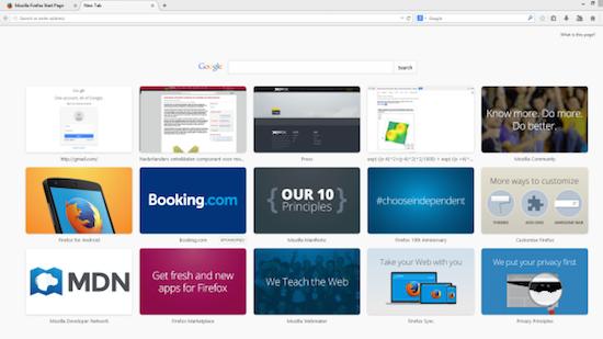 Firefox toont reclames in nieuwste versie van browser