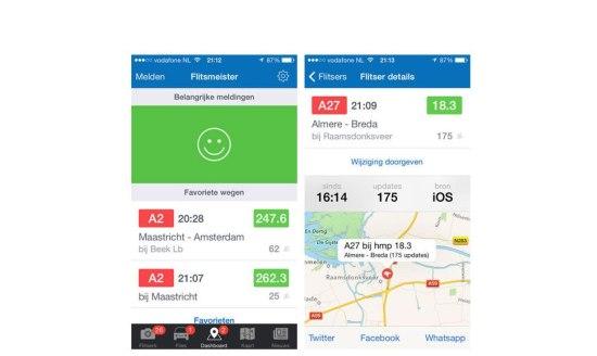 Flitsmeister app is vernieuwd en aangepast op iOS 7