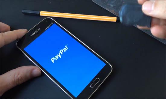 Samsung Galaxy S5 hack paypal