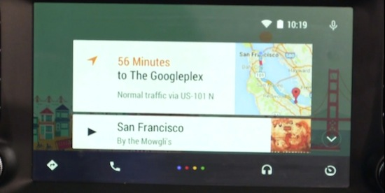 Android Auto met Google Maps