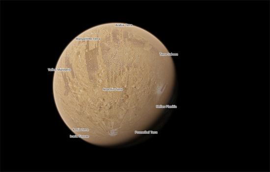Met Google Maps kan je nu ook een kijkje nemen op Mars