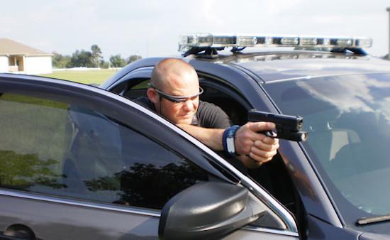 Amerikaanse agent met Google Glass