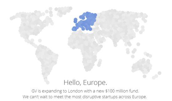 Google Ventures vestigt zich in Londen en wil investeren